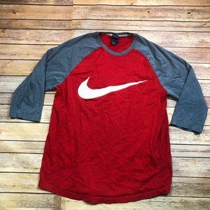 🔴3/$25 Nike boys swoosh 3/4 sleeve shirt